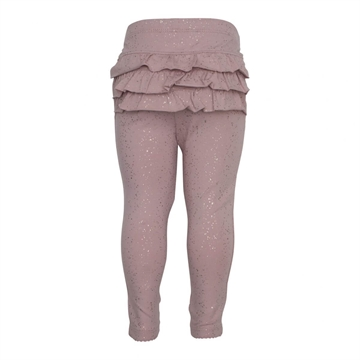 Little Wonders - Leggings m/ flæse & glimmer - Rosa